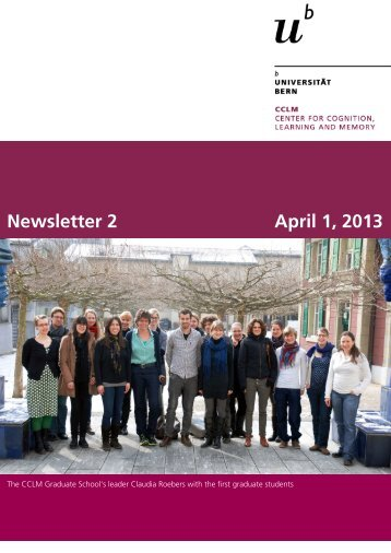 Newsletter 2 April 1, 2013 - Center for Cognition, Learning and ...