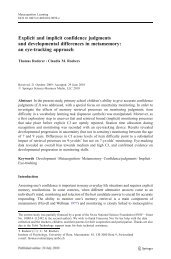an eye-tracking approach - Center for Cognition, Learning and ...