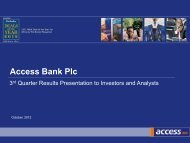 2012, Third Quarter Presentation - Access Bank