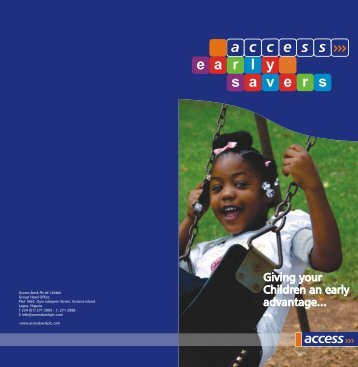 Early Savers Brochure - FINAL curved - Access Bank