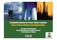 Presidential Retreat for Power Sector Investors Gas to ... - Access Bank