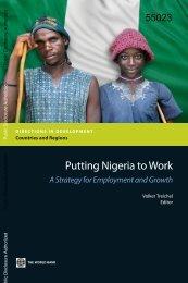 Putting Nigeria to Work - World Bank