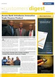 Customer digest APRIL-MAY, 2011 ENGLISH.cdr - Access Bank