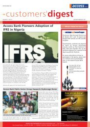 Customer digest JANUARY- FEBRUARY, 2011 ... - Access Bank