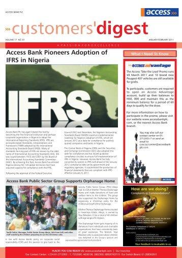 Customer digest JANUARY- FEBRUARY, 2011 ... - Access Bank