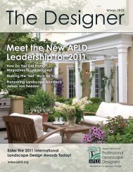 Meet the New APLD Leadership for 2011 - Association of ...