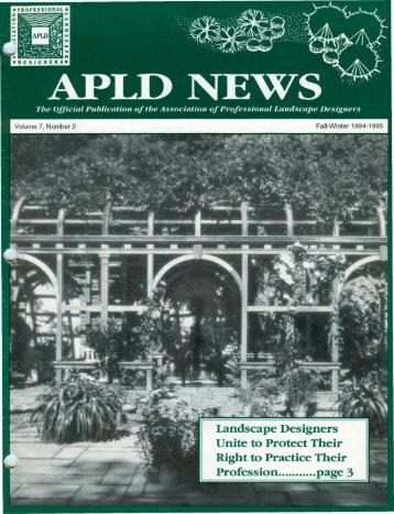 Designer Profile - Association of Professional Landscape Designers
