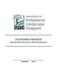 2010 member handbook - Association of Professional Landscape ...
