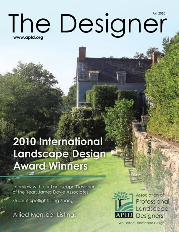 2010 International Landscape Design Award Winners
