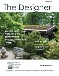 Special green issue - Association of Professional Landscape ...