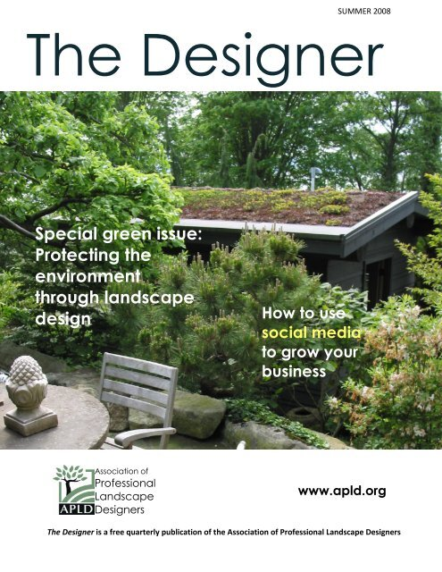 Special Green Issue   Association Of Professional Landscape .