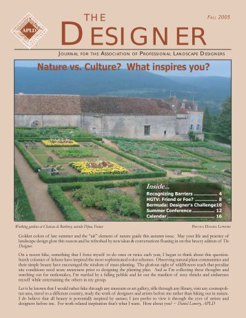 Focus area lower desire for Professional landscape design