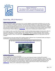 Good Day, APLD Members! - Association of Professional Landscape ...