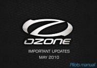 IMPORTANT UPDATES MAY 2010 - Ozone