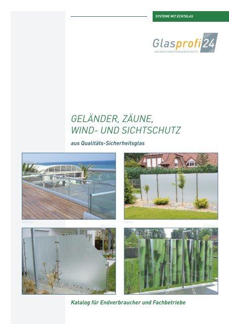 Glasprofi24 Glasprodukte Fur Zaun Gelander Railing Treppe