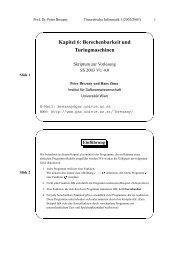 Kapitel 6: Berechenbarkeit und Turingmaschinen ... - Universität Wien