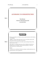 automatic cluster detection - Research Group Scientific Computing ...