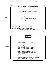 1 Slide 1 PARALLELE SYSTEME Skriptum zur Vorlesung 407270 ...