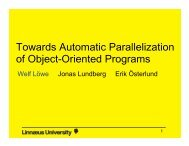 Towards Automatic Parallelization of Object-Oriented Programs