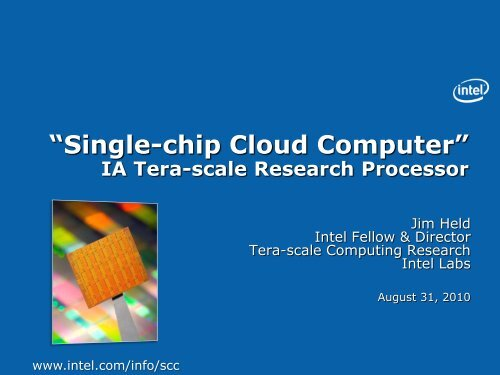 """Single-chip Cloud Computer"", an IA Tera-scale Research Processor"