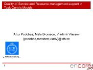 Quality-of-Service and Resource management support in Task ...