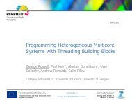 Programming Heterogeneous Multicore Systems with Threading ...