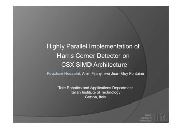 Highly Parallel Implementation of Harris Corner Detector on CSX ...