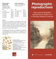 Photographic reproductions - National Gallery of Australia