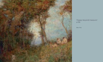 'Happy beyond measure': a life - National Gallery of Australia
