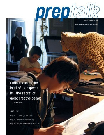 Curiosity about life in all of its aspects is... the secret ... - Flintridge Prep
