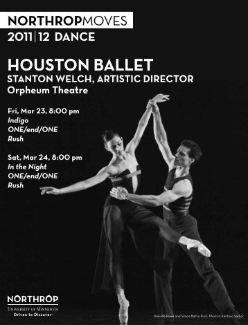 Houston Ballet Program - Northrop - University of Minnesota