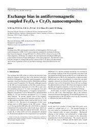 Exchange bias in antiferromagnetic coupled Fe3O4+Cr2O3 ...