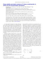 Phase stability and elastic modulus of Ti alloys containing Nb, Zr ...