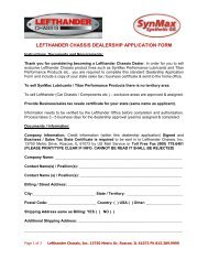 Dealership Application Form - SynMax Performance Lubricants