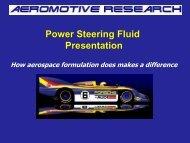 Power Steering Fluid Presentation - SynMax Performance Lubricants