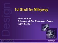 Tcl Shell for Milkyway - Synopsys