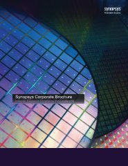 Synopsys Corporate Brochure - Synopsys.com