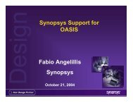 What is OASIS - Synopsys