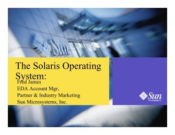 The Solaris Operating System: - Synopsys.com