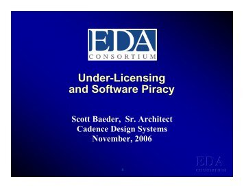 Under-Licensing and Software Piracy - Synopsys.com