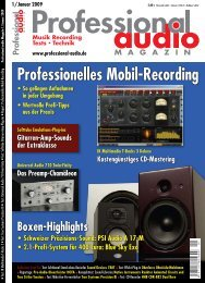 Test im Professional Audio Magazin 1/2009 - Synthax