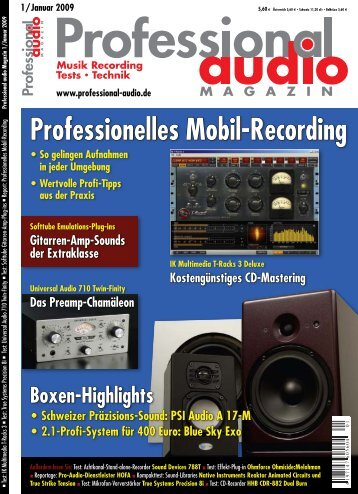 Test im Professional Audio Magazin 1/2009 - Synthax
