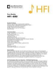Info zu Ultrasone HFI 680 - Synthax