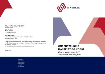 ONDERSTEUNING MANTELZORG HORST - Synthese