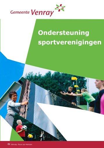 Ondersteuning sportverenigingen - Synthese