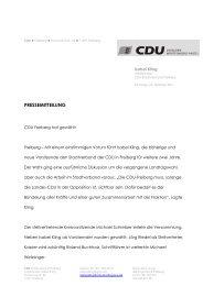 Mitgliederversammlung der CDU Freiberg mit Neuwahlen des ...