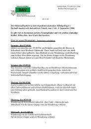 Hier ist unser Programm: Änderungen ... - DAV Sektion Schwabach
