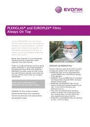 PLEXIGLAS ® and EUROPLEX ® Films