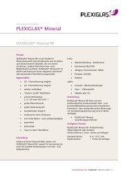 PLEXIGLAS ® Mineral NF - Technische Information