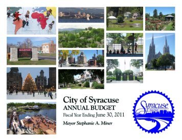 2010/2011 budget - City of Syracuse